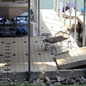 Picture of EZ Dock boat lift and ramp