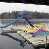 Picture of EZ Dock with sliding board and PWCs