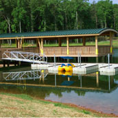 Picture of EZ Dock on fresh water lake